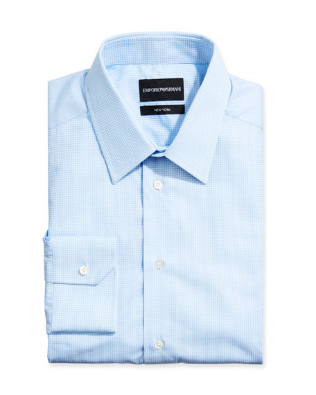 Emporio Armani Men's New York Check Dress Shirt