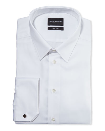 Men's New York Micro-Pattern Dress Shirt  White