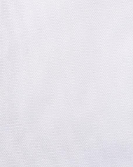 Emporio Armani Men's New York Micro-Pattern Dress Shirt, White