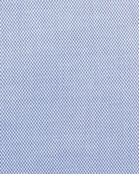 Emporio Armani Men's New York Micro-Pattern Dress Shirt, Medium Blue