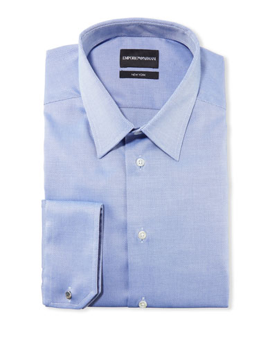 Men's New York Micro-Pattern Dress Shirt  Medium Blue