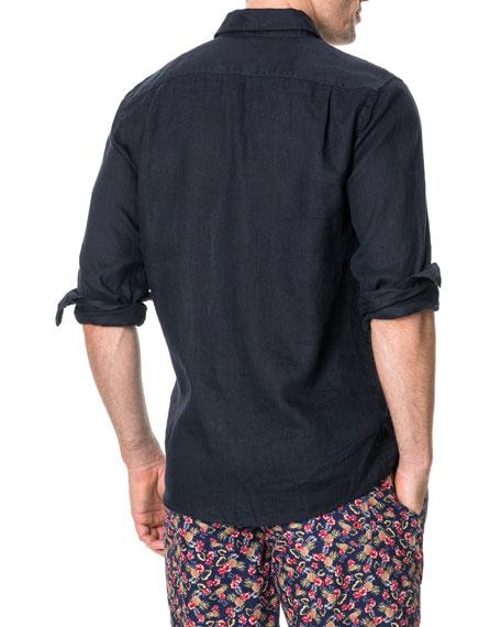 Rodd & Gunn Men's Tindall's Beach Faded Linen Sport Shirt