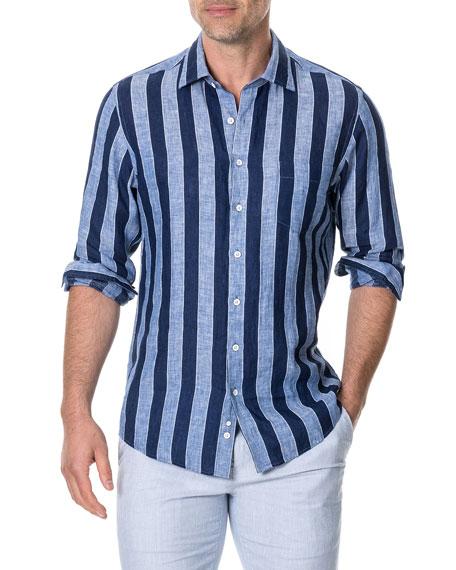 Rodd & Gunn Men's Parsons Hill Striped Linen Shirt