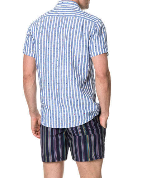 Rodd & Gunn Men's Ferntown Faded Linen Sport Shirt