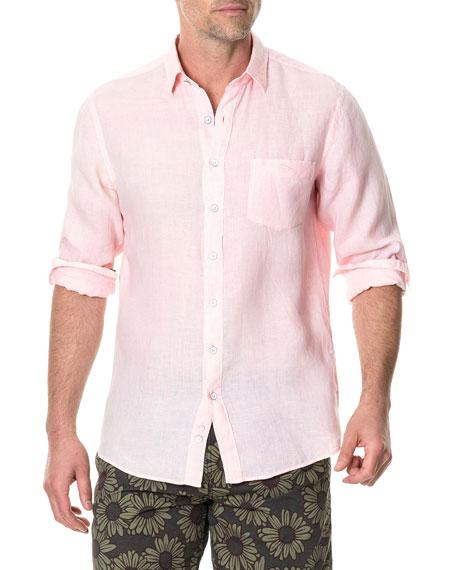 Rodd & Gunn Men's Pinnacle Hill Faded Linen Sport Shirt