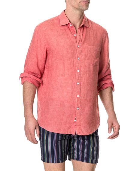 Rodd & Gunn Men's Selwyn Huts Faded Linen Sport Shirt