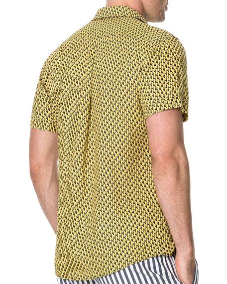 Rodd & Gunn Men's Mclaren Falls Parrot Motif Linen Sport Shirt