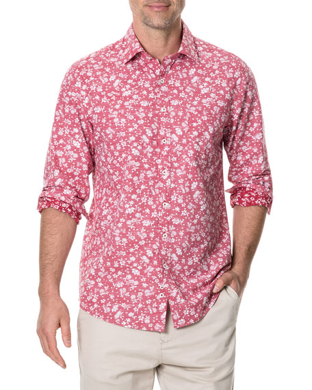 Rodd & Gunn Men's Ramsay Long-Sleeve Poplin Shirt