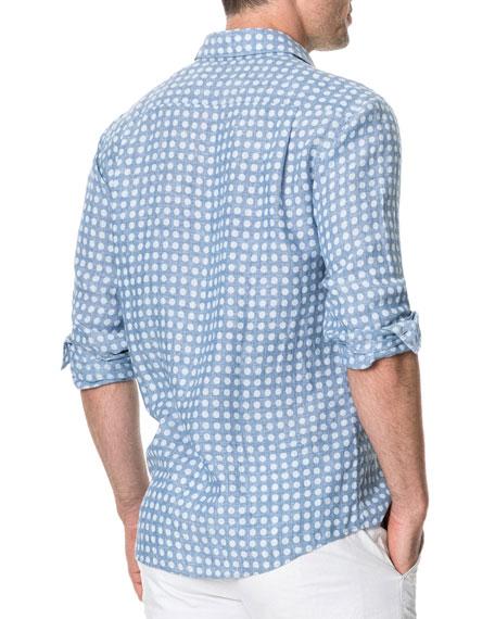 Rodd & Gunn Men's Pickersgill Polka-Dot Linen Sport Shirt