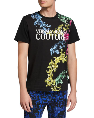 Men's Multicolor Baroque Logo T-Shirt