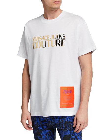 Versace Jeans Couture Men's Metallic Logo T-Shirt with Warranty Label