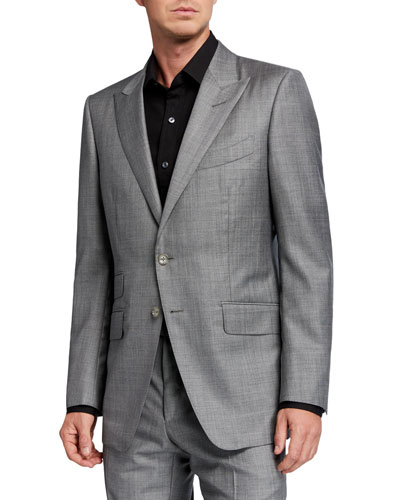 Men's O'Connor Sharkskin Wool Two-Piece Suit