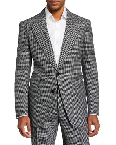 Men's Windsor Peak Gingham Wool Two-Piece Suit