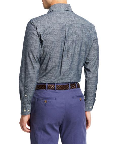 Peter Millar Men's Arrowhead Pattern Sport Shirt
