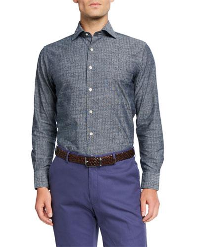 Men's Arrowhead Pattern Sport Shirt