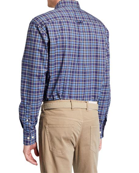 Peter Millar Men's Plaid Sport Shirt