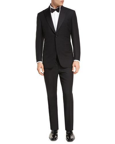 Two-Piece Wool Tuxedo Suit