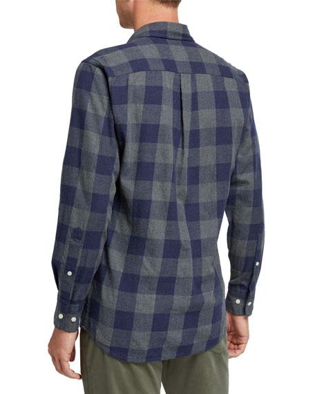 Peter Millar Men's Check Sport Shirt with Pocket
