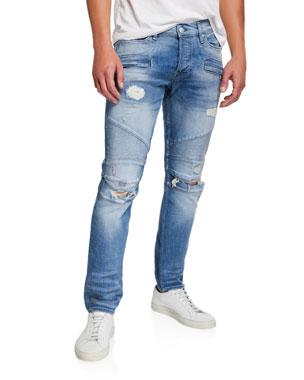62a0770ab518f2 Hudson Men's The Blinder Biker Knee-Rip Jeans