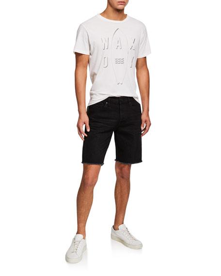 Hudson Men's Cutoff Denim Shorts w/ Side Stripe
