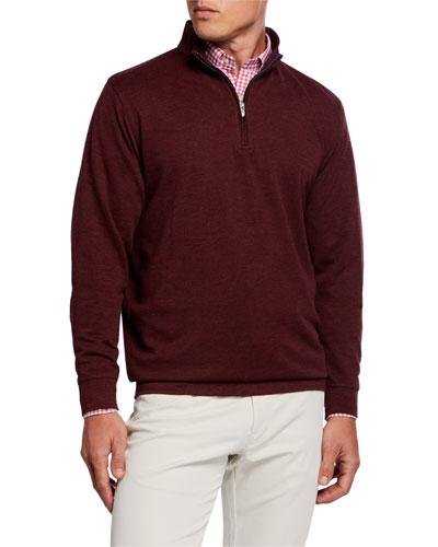 Men's Comfort Interlock Quarter-Zip Sweater