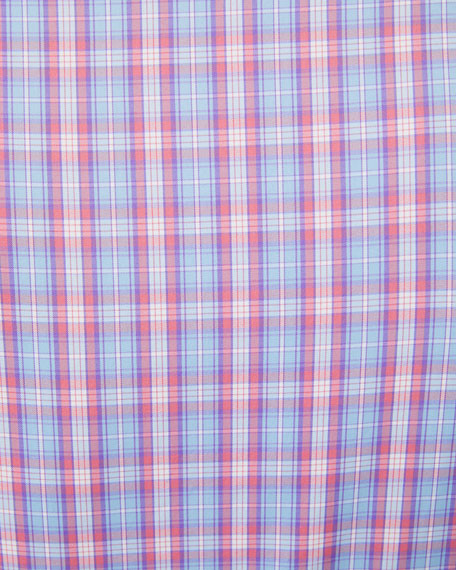 Peter Millar Men's Plaid Performance Sport Shirt