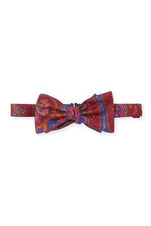 Edward Armah Men's Paisley Silk Bow Tie