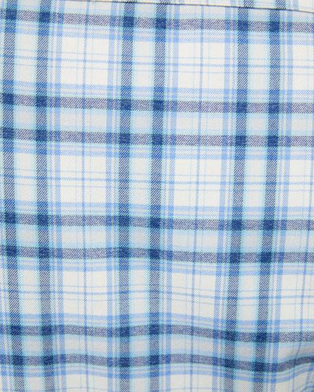 Peter Millar Men's Light Flannel Performance Sport Shirt