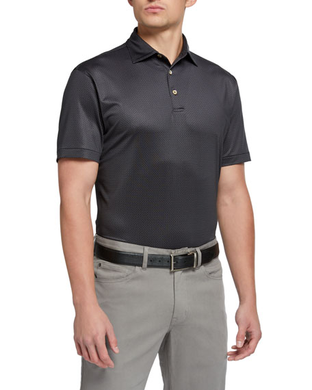 Peter Millar Men's Royal-Print Branch Polo Shirt