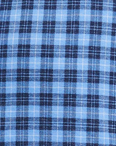 Peter Millar Men's Flannel Check Sport Shirt