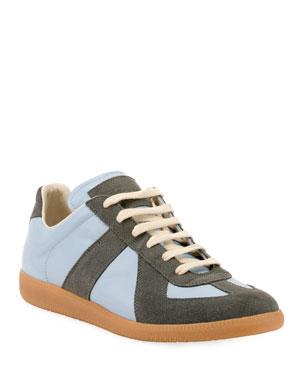 cc8d1a7cace Maison Margiela Men's Replica Suede & Leather Low-Top Sneakers