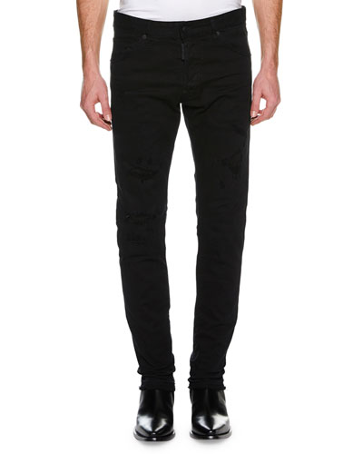 Men's Cool Guy Distressed Slim-Fit Jeans