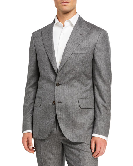 Brunello Cucinelli Men's Micro-Stripe Flannel Two-Piece Suit