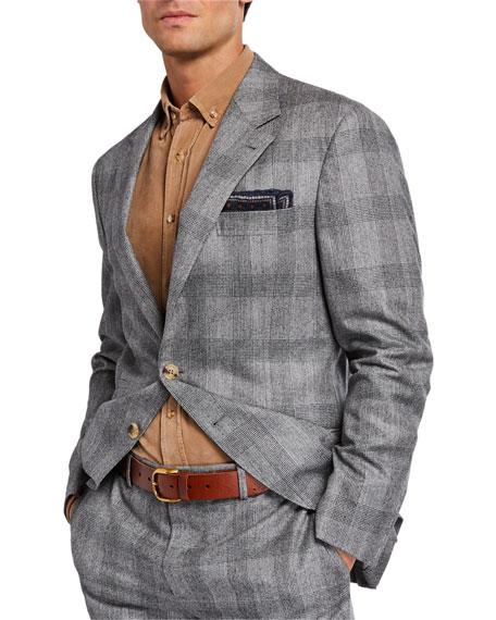 Brunello Cucinelli Men's Prince of Wales Check Two-Piece Suit