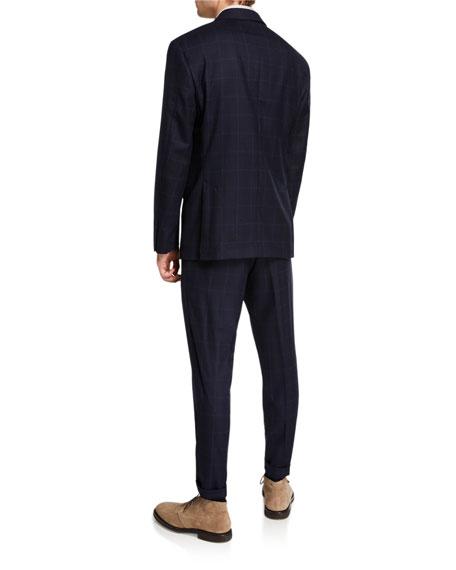 Brunello Cucinelli Men's Virgin Wool Windowpane Check Two-Piece Suit