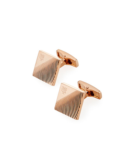 dunhill Diagonal Stroke Rose Gold-Plated Cufflinks