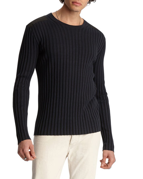 John Varvatos Men's Regular-Fit Crewneck Sweater