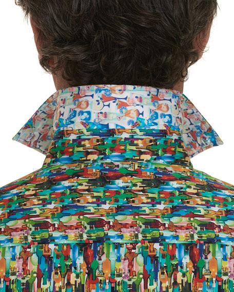 Robert Graham Men's Bottle Service Short-Sleeve Sport Shirt