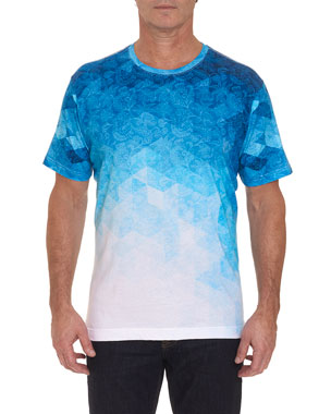 75326ddf Robert Graham Men's Blulios Ombre Graphic T-Shirt