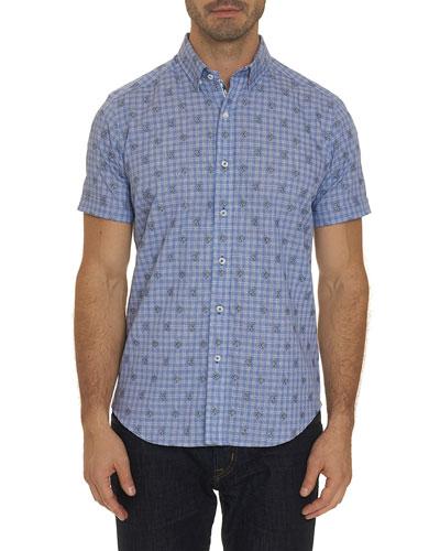 Men's Angelfish Short-Sleeve Sport Shirt