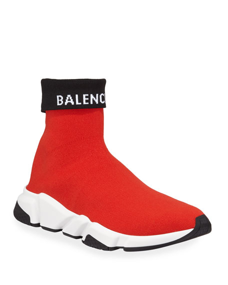 Speed High-Top Fold-Over Sock Sneakers
