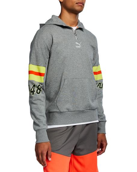Puma Men's LuxTG Striped-Sleeve Pullover Hoodie