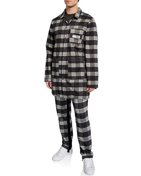 Puma Men's x Rhude Plaid Twill Coat