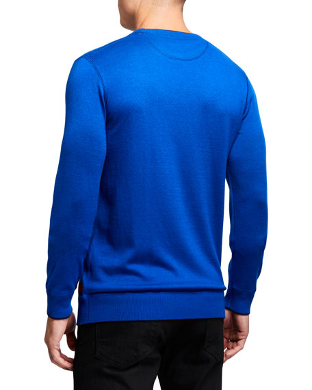 Scotch & Soda Men's Contrast-Details Crewneck Sweater