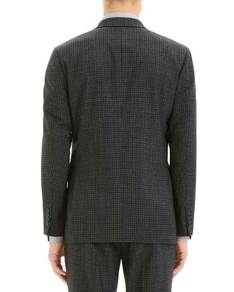 Theory Men's Thurlow-Print Chambers Check Suit Jacket