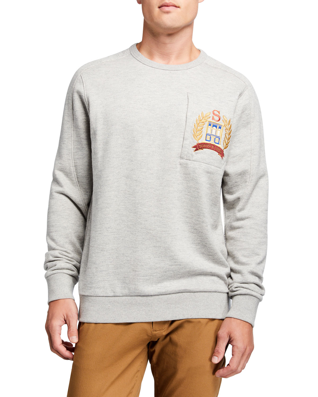 Scotch /& Soda Mens Logo Detail Sweatshirt