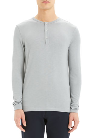 Theory Men's Anemo Snap Henley T-Shirt