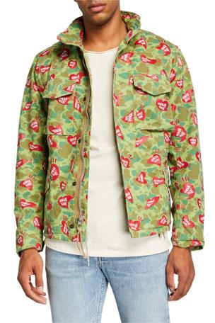 HUMAN MADE Men's Heart and Camo-Print Field Jacket