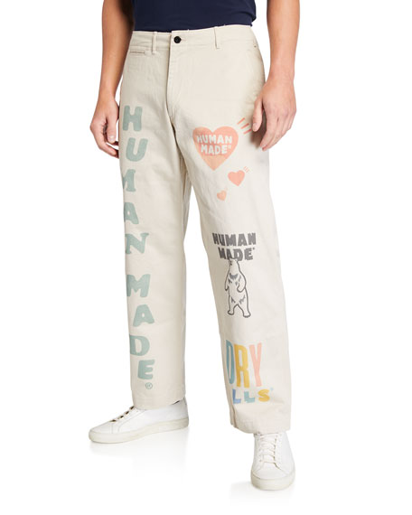 HUMAN MADE Men's Typographic Military Chino Pants