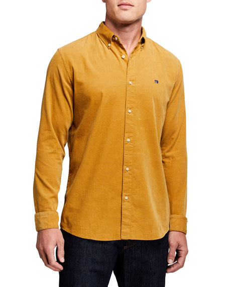 Scotch & Soda Men's Corduroy Button-Down-Collar Sport Shirt